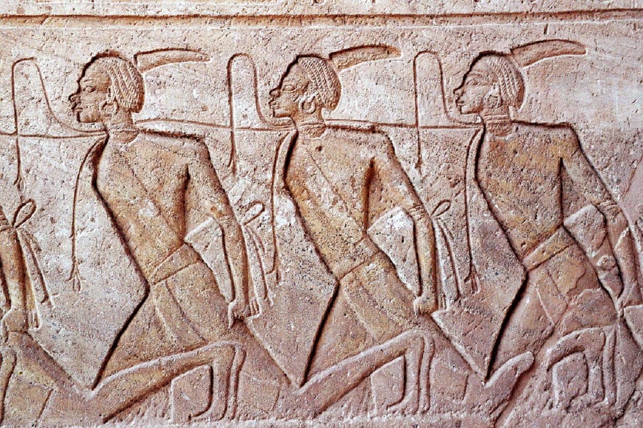 Representación de esclavos nubios