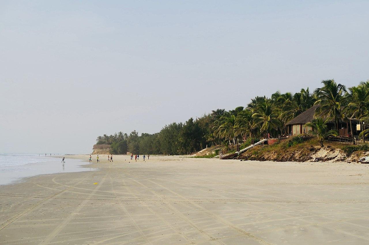 Una playa en Cap Skirring