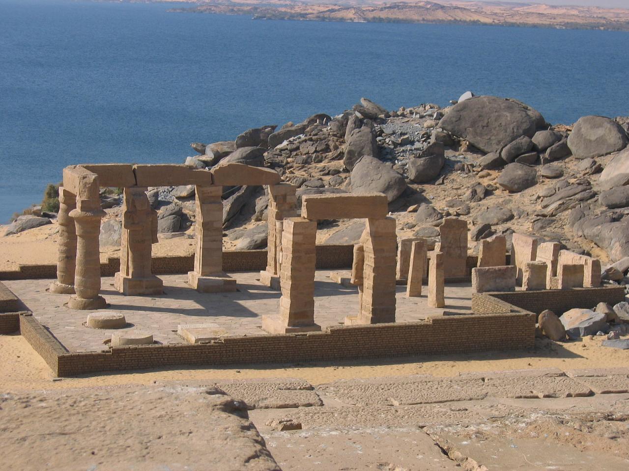 El templo de Gerf Hussein en Nubia