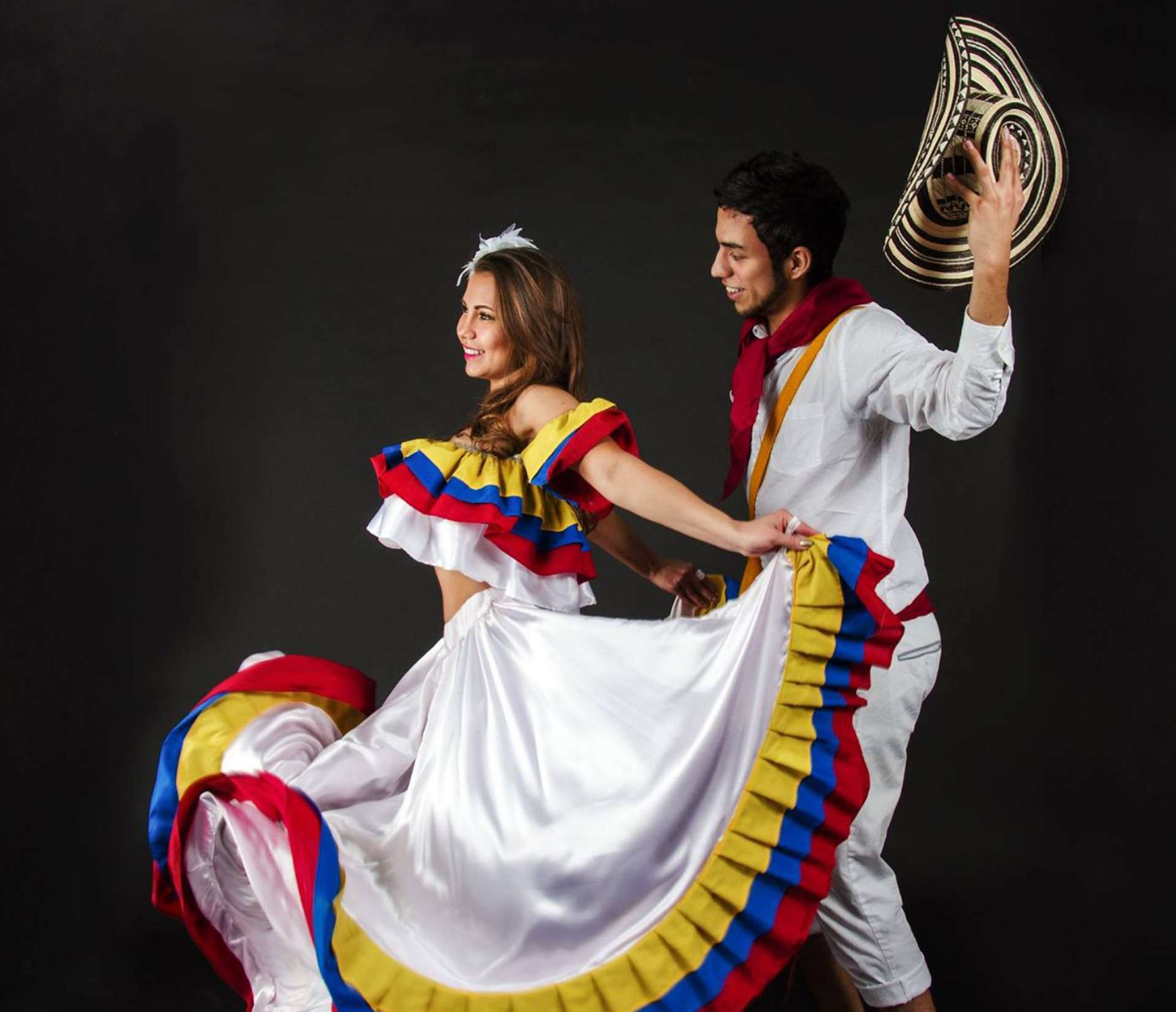 Vestido cumbia colombiana