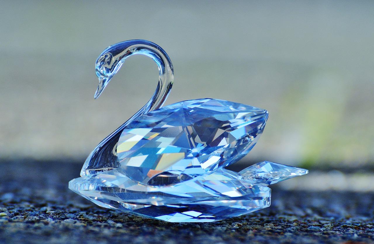 Cisne cristal Swarovski