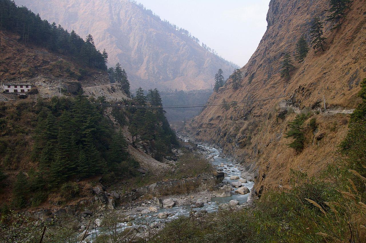 La garganta del río Gandaki