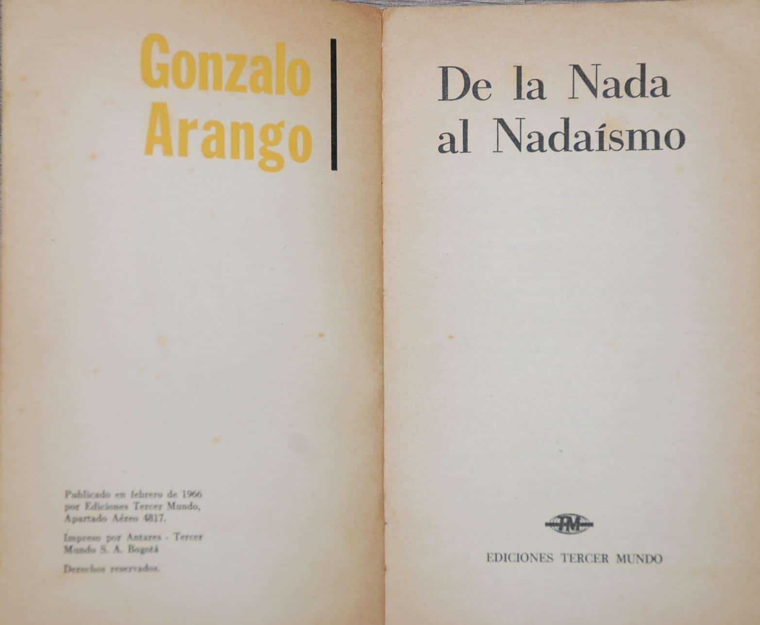 libro de Gonzalo Arango