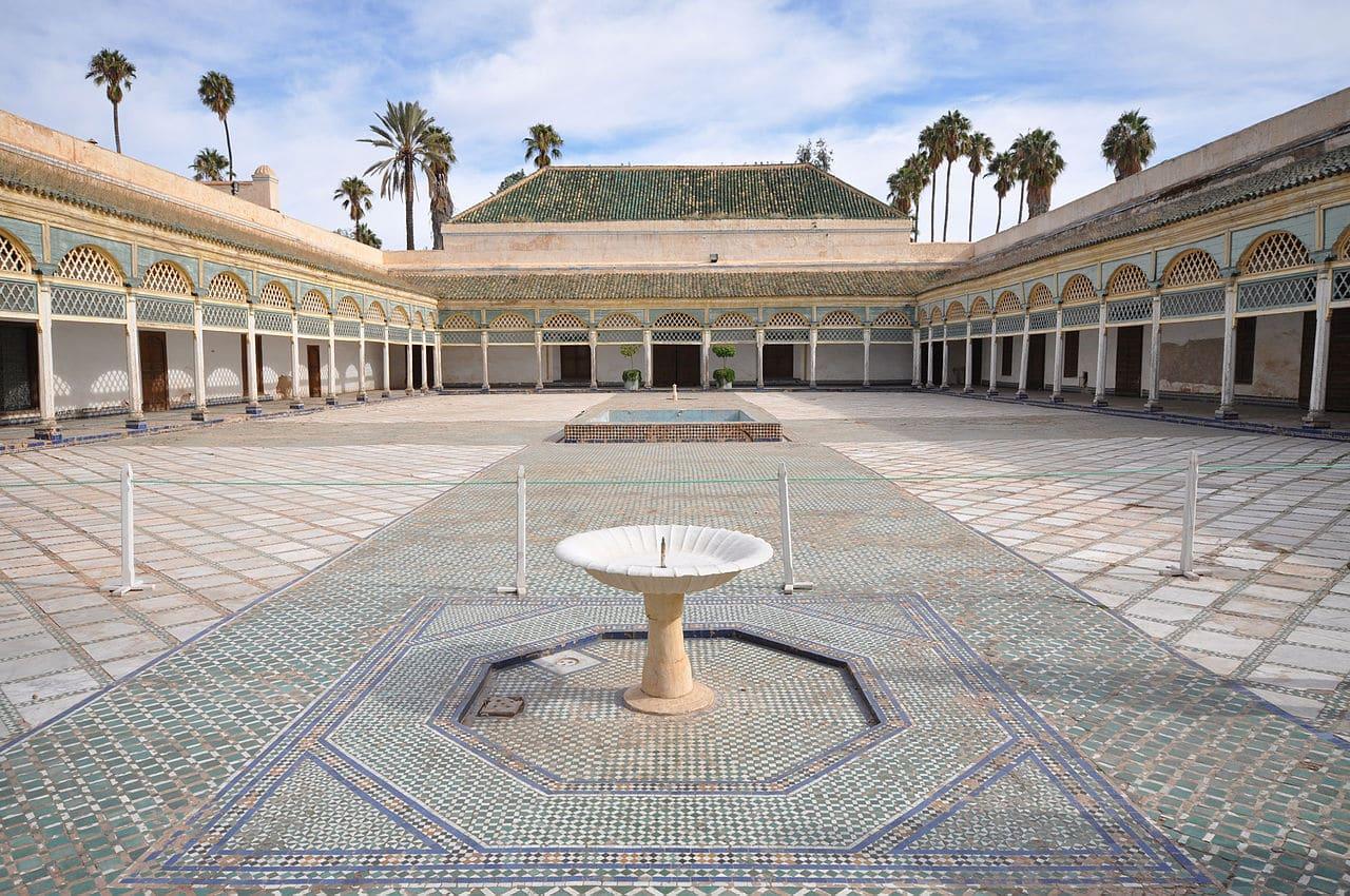 El patio del Palacio de la Bahía