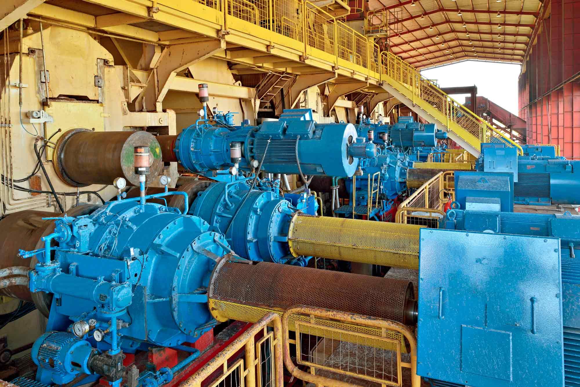 maquinaria procesado azucar