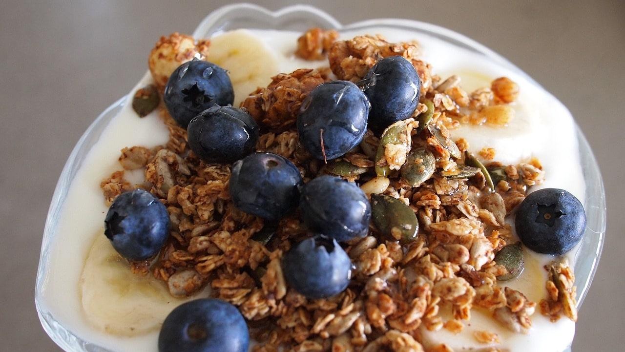 desayuno canada fgranola arándanos