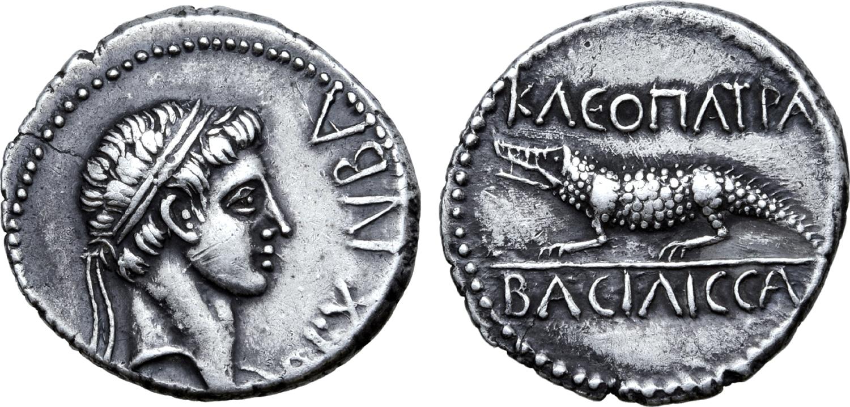moneda de plata cleopatra