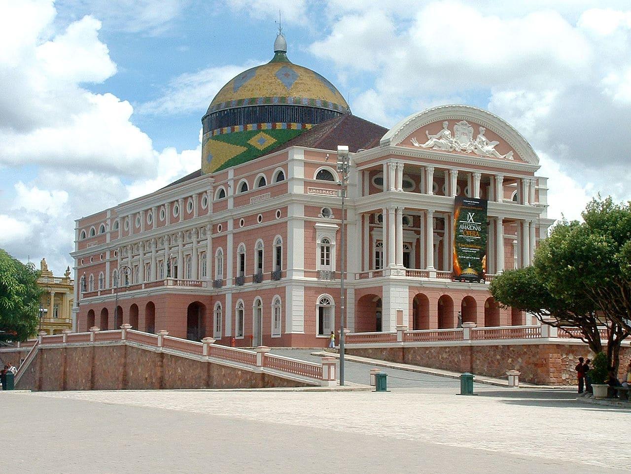El teatro Amazonas de Manaos