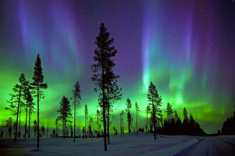 aurora boreal en Dinamarca